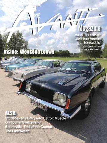 Avanti Magazine published by the Avanti Owners Association International